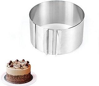 WSZOK Justerbara tårtformar mousse ringformar runda rostfritt stål bakningsredskap form ring form tårta dekorationsverktyg...