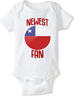 nobrand Chile Bodysuit Newest Fan Soccer Infant Baby Girls Boys Personalized Customized Name and Number