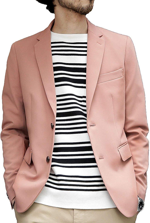 YYI Hommes/Veste Costume Blazer Cran Revers Deux Boutons Veste Formelle
