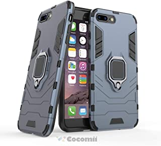 Cocomii Black Panther Armor iPhone 8 Plus/7 Plus Case New [Heavy Duty] Tactical Metal Ring Grip Kickstand Shockproof [Works with Magnetic Car Mount] Cover for Apple iPhone 8 Plus/7 Plus (B.Black)