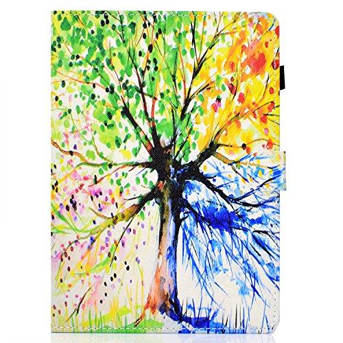 zl one Compatível com/Substituição para Tablet PC Kindle Paperwhite 1, 2, 3, 4, capa flip de couro PU com suporte magnético (árvore)