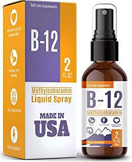 Vitamin B12 Liquid - Sublingual B12 Spray - Vegan & Non-GMO - Instantly Boost Energy Levels and Speed Up Metabolism