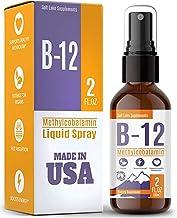 Vitamin B12 Liquid - Methylcobalamin B12 Spray - Vegan & Non-GMO - Instantly Boost Energy Levels and Speed Up Metabolism
