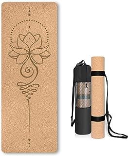 Kurk Yoga Mat Antislip Uniek Ontwerp Natuurlijke Kurk Tpe Materiaal Fitness Oefening Mat met Draagtas en Riem Voor Thuis, ...