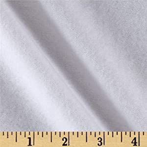 Laguna Fabrics Organic Cotton Sweatshirt Fleece Optic White Fabric By The Yard