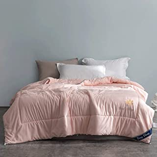 Mai duvet Winter Thick Warm Quilt Core Bedding Single Double Lightweight Washable for Student Residences (Color : Pink, Size : 220x240cm/4.5kg)
