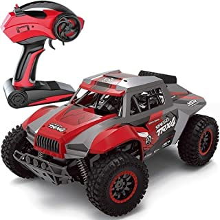 Amerrcan High Speed Giant 1:12 2.4Ghz Radio Remote Control Car RC Off Road Hobby Electric Fast Racing Rock Crawler Monster Truck Electric All Terrain Vehicle Rechargeable Buggy Race 2 Batteries