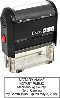 ExcelMark Self Inking Notary Stamp - North Carolina