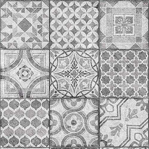 [17,73€/m²] Klebefolie in orientalischer Mosaik Fliesen-Optik [150 x 67,5cm] inkl. Rakel & eBook mit Profitipps I Selbstklebende Folie für Möbel Küche & Bad I Möbelfolie Mosaikoptik mit Ornamenten