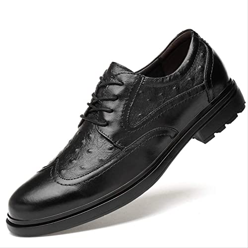Chaussure Homme Cuir Chaussures en Cuir Cuir Cuir Brock pour Hommes Britanniques, Affaires Sculptées en Cuir, Chaussures en Cuir en Cuir pour Hommes Couleur Main 0f2