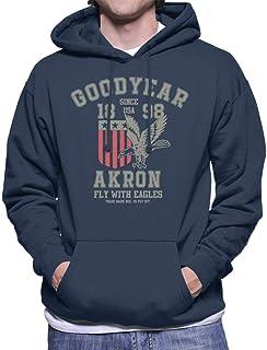 Goodyear Akron Fly with Eagles huvtröja för män
