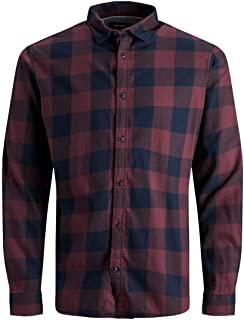 Jack & Jones Men's Jjegingham Twill Shirt L/S Noos
