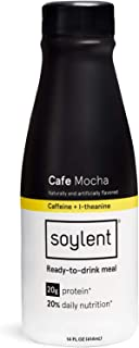 Soylent Cafe Mocha Plant Protein Meal Replacement Shake, 14 oz (Pack of 12)