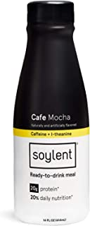 Cafe Mocha Soylent Meal Replacement Shake, Cafe Mocha (aka, Coffiest), Complete Meal in a Bottle, 20g Plant Protein, 14 oz Bottles, 12 Pack
