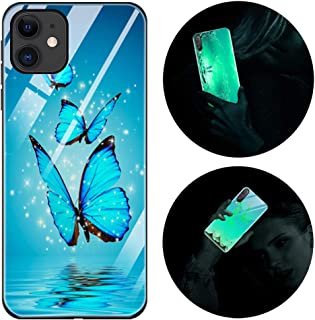 Funda iPhone 11, Luminosa Funda para iPhone 11, Carcasa con Dibujo Diseño Silicona TPU y PC Trasera Cristal Proteccion Ant...