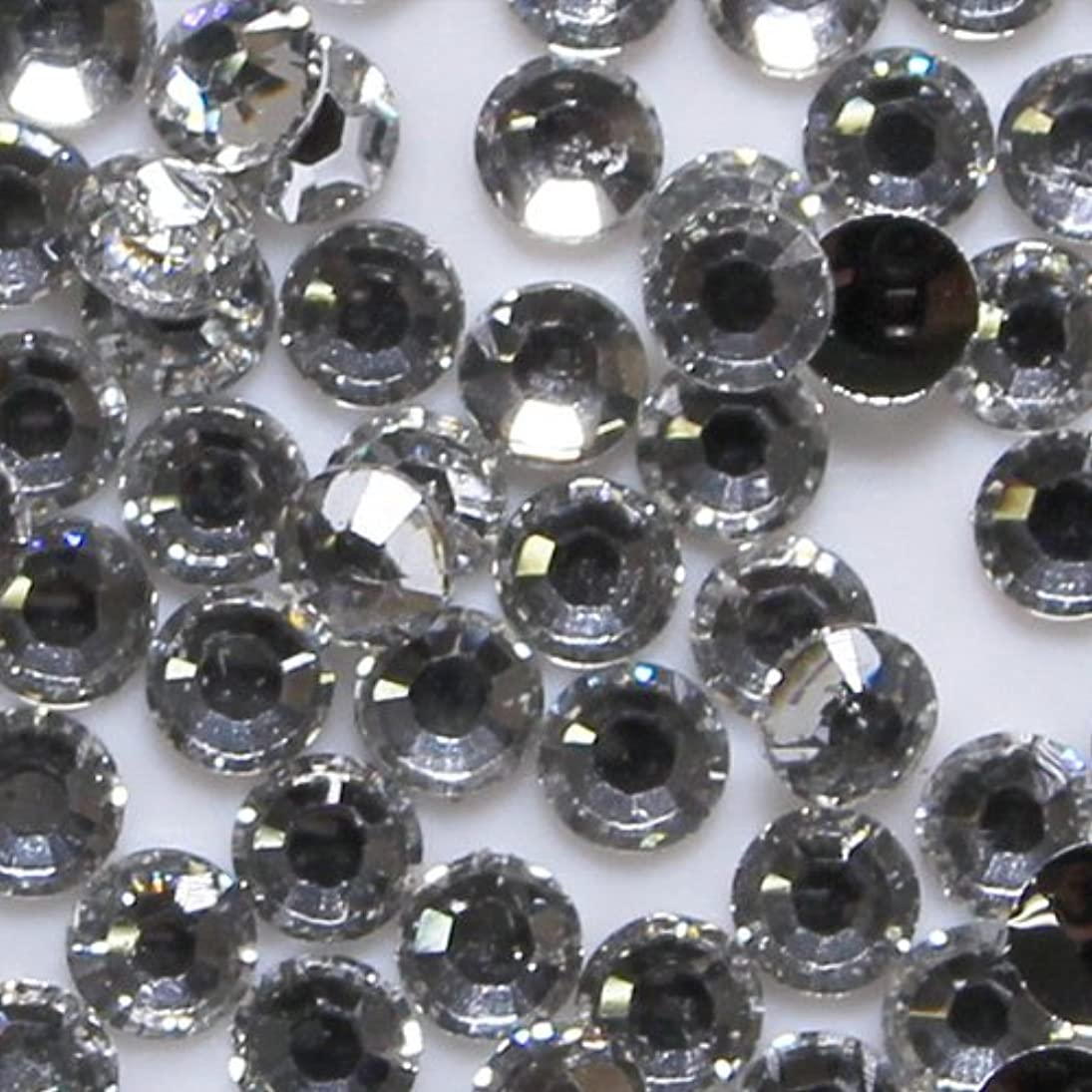 出します侵入テセウス高品質 アクリルストーン ラインストーン ラウンドフラット 約1000粒入り 4mm ダイヤモンド