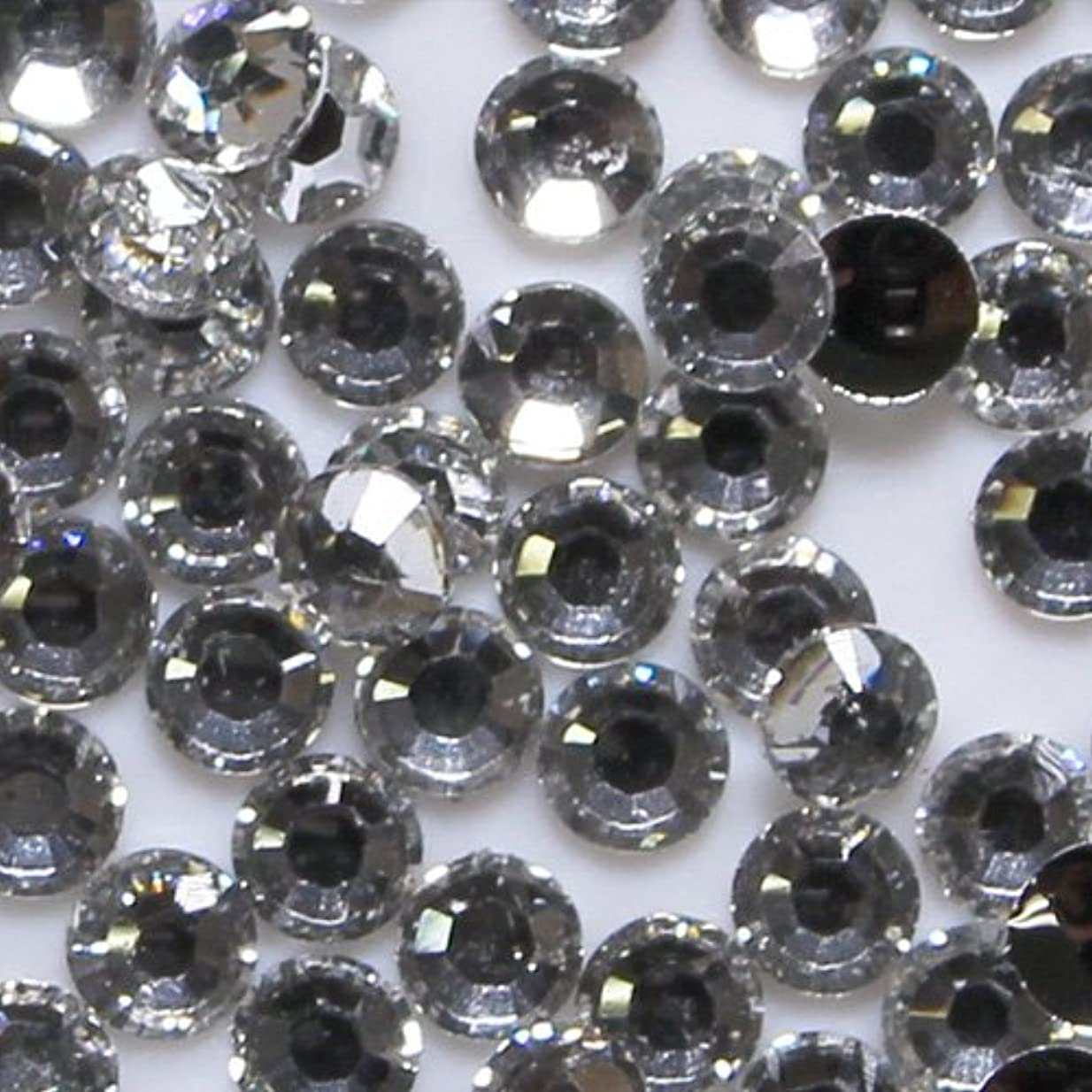胚日食ピアニスト高品質 アクリルストーン ラインストーン ラウンドフラット 約1000粒入り 2mm ダイヤモンド