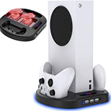 $29 » Vertical Stand with Cooling Fan, for Xbox Series S Console, Fast Cooling, Safe and Quiet, with Dual Controller Charger Por...