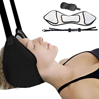 Anoopsyche Hammock for Neck Pain Relief, Portable Cervical Traction Device, Neck Massagers Intervertebral Relaxing Neck Pain Head Hammock with Sturdy Strap for Home/Office Using - Black