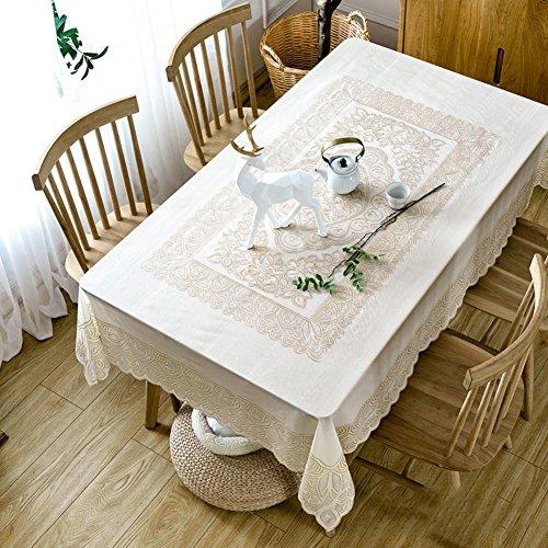 Nappes Facile essuyez Les Clips en Plastique de PVC du Rectangle Lavable de dîner pour des Parties Salle à Manger Garden Hotel Cafe Restaurant Anniversaire-G 137x180cm(54x71inch)