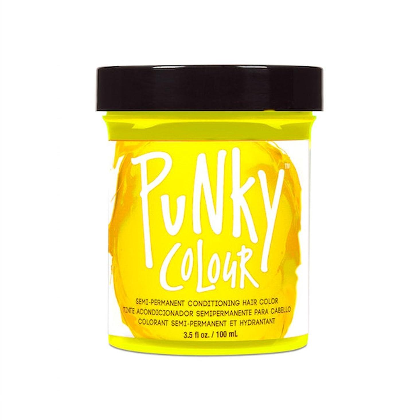 前売美徳無礼に(3 Pack) JEROME RUSSELL Punky Color Semi-Permanent Conditioning Hair Color - Bright Yellow (並行輸入品)