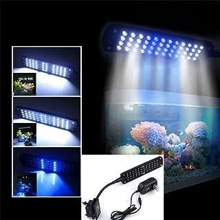 48 LED 2 Mode Fish Tank Aquarium Plant Grow Clip White Blue Light Lamp by Aquarium Lights