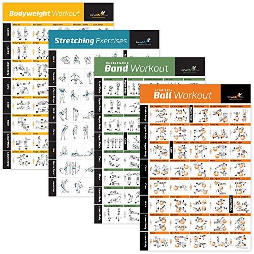 NewMe Fitness - Trainingsprogramme in Widerstand, Dehnung, Körpergewicht Vol 1, Stabilität., Größe 20
