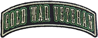 Cold War Veteran Small Rocker Patch - 4x1.5 inch. Embroidered Iron on Patch