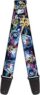 Buckle-Down 2 Inches Wide Guitar Strap - Buzz Lightyear Action Poses Stacked (GS-WDY073)
