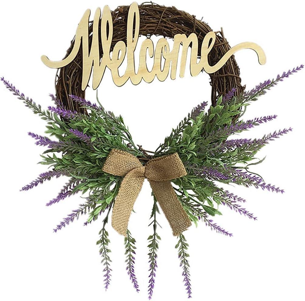 WODMB Artificial Flowers Wreaths Rapid rise Door W Handmade Popularity Lavender Purple