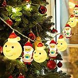 AYUQI Stringa Luci Led di Natale,Catene Luminose 3 metri 20LEDs Stringa Luci LED Impermeabile per Uso Interno ed Esterno per Decorazioni Festive e Natale,alimentazione a batteria/USB