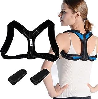 Corrector de Postura, Corrector Postura Espalda, Corrector de Espalda Recta,Transpirable y Ajustable Corrector Espalda Hombro para Hombre y Mujer, Aliviar Dolor y Mejorar Postura Hombro y Cuello