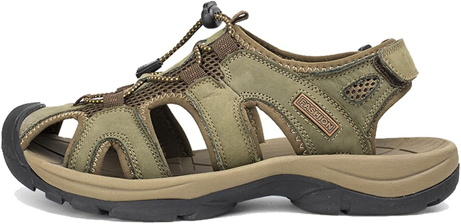 Mubeuo Women's Closed Toe Casual Athletic Hiking Leather Sandals