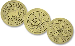 Assorted Holiday Embossed Foil Seals, 54 Count (Gold)
