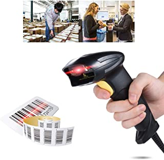 Decdeal Wired Automatic Handheld Barcode Scanner Reader USB2.0 Wired for Supermarket Library Express Company Retail Store ...