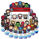 koobets 25 Pcs Avengers Cake Topper...