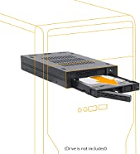 """ICY DOCK ExpressCage MB742SP-B Dual 2 x 2.5 HDD/SSD Drive Mobile Rack Cage Sled Caddy for External 3.5"""" Bay - Comparable to Tray-Less Design"""