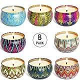 YIIA Fruity Scented Candles Gift Set, Natural Soy Wax Travel Tin Candle Stress Relief Aromatherapy with Sweet...