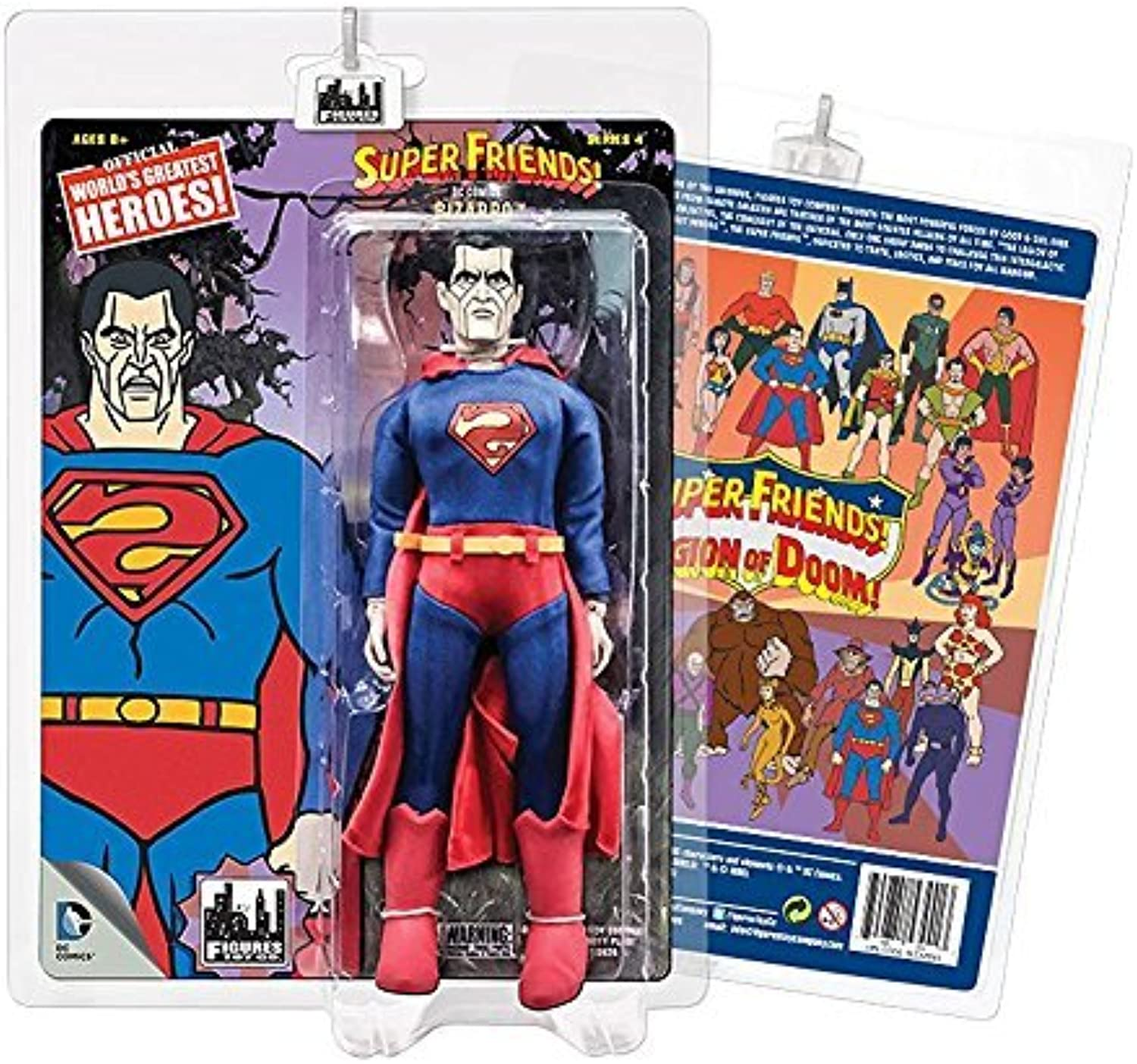 Super Friends Retro Action Figures Series 4  Bizarro by Figures Toy Company
