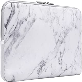 Laptop Sleeve, iCasso 13-Inch Stylish Soft Neoprene Sleeve Case Cover Bag For Macbook Air / Pro / Retina 13 Inch/ iPad Pro(White Marble)