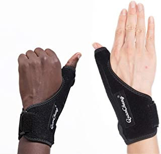 Qiancheng Thumb and Wrist Compression Sleeve Wrap Stabilizer,  Adjustable Joint Thumb Brace Support Immobilizer for Trigger Finger and Pain Relief