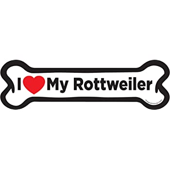 Magnet Me Up I Love My Rottweiler Pawprint Car Magnet Paw Print Auto Truck Decal Magnet P-97