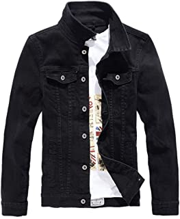 DSDZ Men`s Classic Slim Fit Motorcycle Denim Jacket Coat