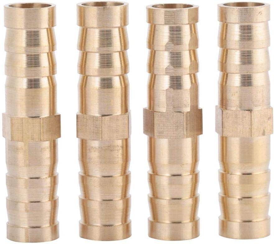 6mm-8//10//12mm Lat/ón Acoplamiento Manguera Barb Recto Pagoda Junta Cobre Cobre Reductor Tap/ón Conector Aire Gas Agua Combustible para el mantenimiento de la tuber/ía 6-8mm