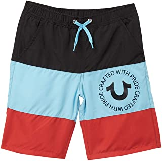 True Religion Big Boys Striped Swim Shorts Trunks