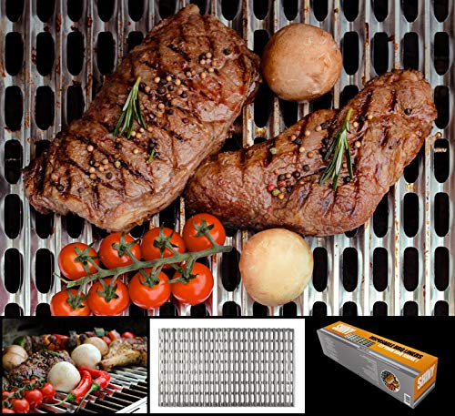 Shiny Innovations – Food Grade Aluminum Disposable Grill Grate Liners, Pack of 12 Grill Toppers/Liners (12 x 20 Inch)