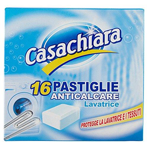 Casachiara - Pastiglie anticalcare per lavatrice, Confezione da 16