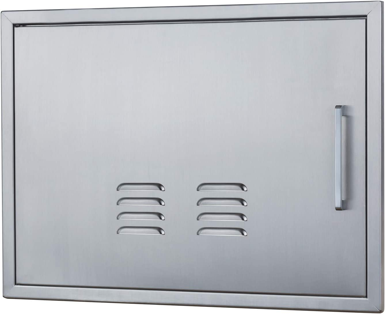 Amazon Com Vented Outdoor Kitchen Doors 23 W X 17 H Stainless Steel Bbq Single Access Door W Left Swing Flush Mount For Outdoor Kitchen And Bbq Island Home Improvement