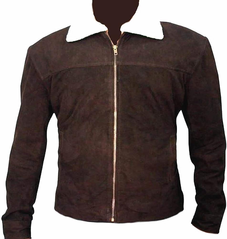 coolhides Mens Rick Grimes Walking Dead TV Show Suede Leather Jacket