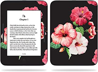 MightySkins Skin Compatible with Barnes & Noble Nook GlowLight 3 (2017) - Hibiscus | Protective, Durable, and Unique Vinyl Decal wrap Cover | Easy to Apply, Remove | Made in The USA